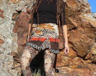 ethnic skirt in safari style