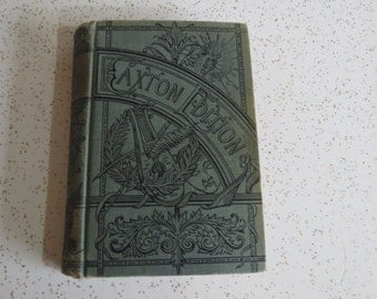 Eutaw by William Simms Caxton Edition 1800s Antique Book Gorgeous Cover