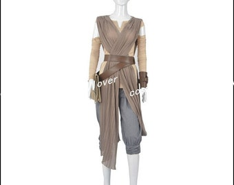 The Star War Rey Custom Made Cosplay Costume