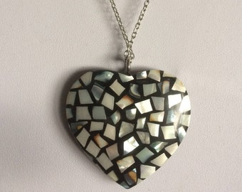 Handmade Necklace with Huge Heart Pendant