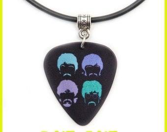 Pop Rock 60' Guitar Pick Necklace Pendant Plectrum Fab Four English Liverpool