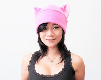 Pink pussy hat - Pussy Hat - Pussy cat hat - Pink Pussy Hats - Pussy Beanie Hat - Cat ear Hat - Cat Ears - cat cosplay hat - Pink Cat Hat