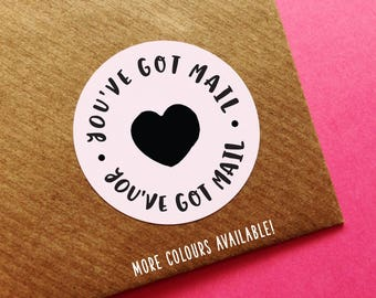 You've Got Mail Sticker, Happy Mail Sticker, Happy Post Labels, Thank You Stickers, Pretty Packaging Stickers, Wedding Invite Stickers