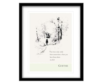 Literary Art Print, literary quotes, Goethe, Illustration Art, Literary Art Prints, Literary Quote Print, Black And White Art, Life Quotes