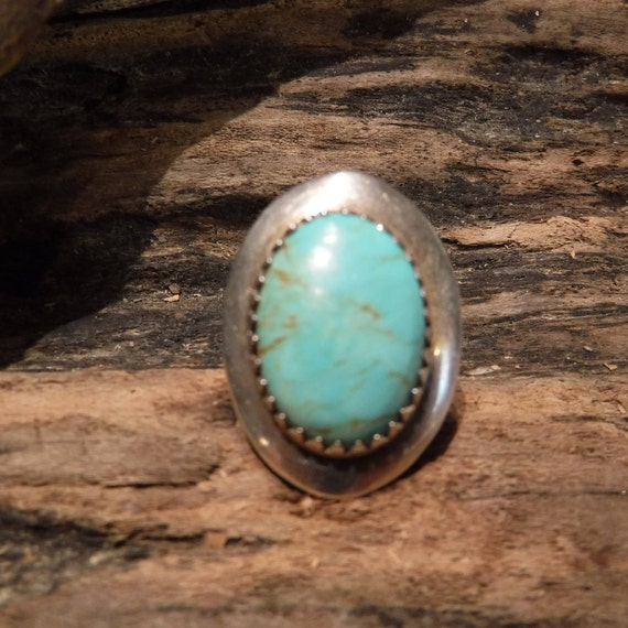 Vintage Mens Ring Large Jay King Sterling Silver Turquoise Ring Signed DTR Size 7 Heavy 6 grams Mens Rings Jewelry Unisex Ring Southwestern