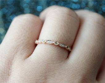 August Birthstone Natural Peridot Ring Peridot Band 14K Gold Peridot Wedding Ring/Half Eternity Band/Wedding Band/Match Band/Anniversary