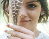 Boho wedding Flower earrings Indian wedding Floral earrings Wedding jewellery Wedding accessories Magaela jewellery