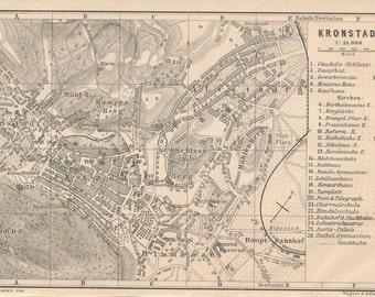 1905 Brașov Romania Antique Map