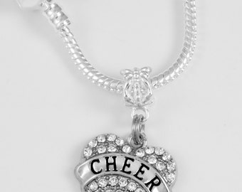 Cheerleader Necklace Cheer Charm necklace Cheerleader cheer chain cheering jewelry  best cheerleader gift