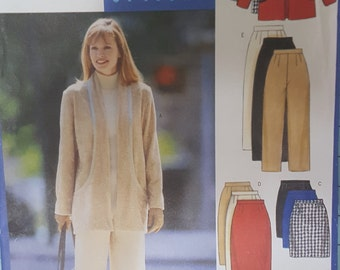Butterick 5697 Misses Jacket, Pants, Skirt and Vest Size 14-18
