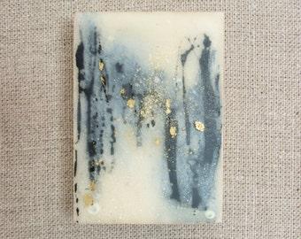 CAPRICE NO. 12  | Tiny Original Encaustic Painting on Wood by Katie C. Gutierrez