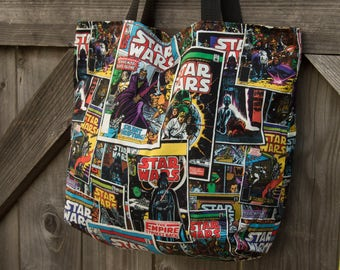 Star Wars Mini Tote, Shopping Bag, Tote, Grocery Bag, Reusable, Vegan