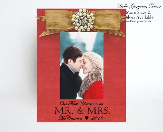 First Christmas Married Gift to Husband Wife Picture Frame for ...