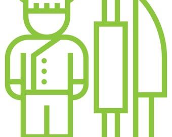Chef Sticker / Chef Decal for Yeti Tumbler / Chef Car / Laptop Sticker