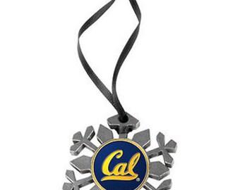 California Golden Bears Snowflake Ornament