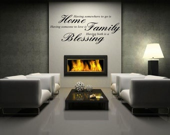 Home Family blessing  Wall sticker, decal ,quote wall art home decor removable diy stickers sign words sticky letters