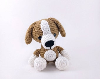 PATTERN: Danny the Dog - Crochet dog pattern - amigurumi puppy pattern - crochet beagle pattern - crocheted beagle  - PDF crochet pattern