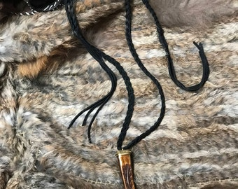 Inscribed Antler Necklace