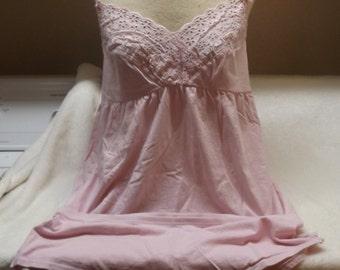 SALE Victoria's Secret Pink Cotton Babydoll Top Large Panties
