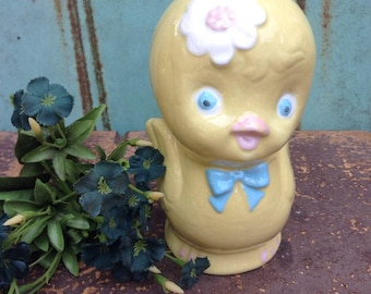 Vintage Chick Figurine Easter Chick Yellow Chick Vintage Nursery Decor Spring Chicken