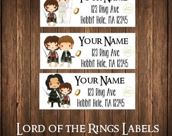 Lord of the Rings Address Labels, Mailing Labels