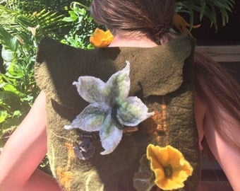 Handmade Felted Backpack