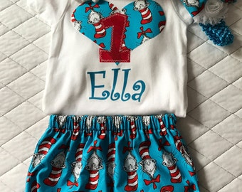Little Girls Dr. Seuss Birthday Set