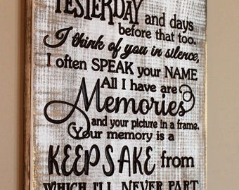 I thought of you today - Sympathy gifts for loss of loved one - In loving memory sign - Wood sign - Grief Signs - Memorial wooden signs
