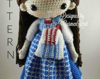 Belle-French Village- Amigurumi Doll Crochet Pattern PDF
