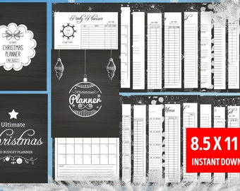 Christmas Planner, INSTANT DOWNLOAD, Letter Size Kit, Christmas Planner bundle, Holiday Planning Kit, Gift Planner, Holiday Organizer