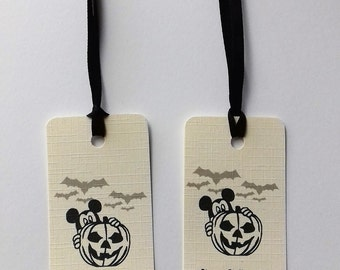 Disney Halloween tags, Disney Halloween gift bag tags, Trick or treat tags, Disney Tags.