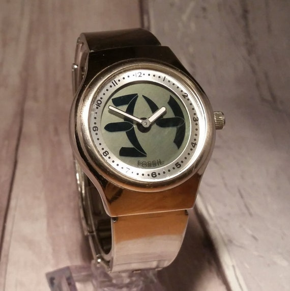 Mens Vintage Big Tic Fossil Watch Lcd Fossil Watch