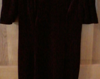 Vintage Velour Burgundy Dress