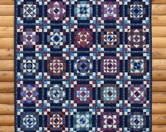 "Quilt blanket ""South night"""
