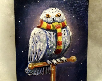 Painting Owl Harry Potter