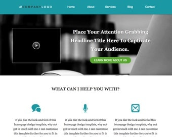 WordPress Homepage Template For Personal Brand, Coaching, Consultant Business Website