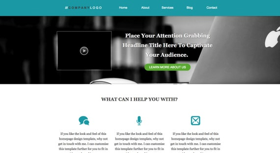 Wordpress Homepage Template Images - template design free download