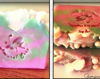 Free Shipping Organic Bar soap 4.5-5 oz/love in the air /bar soap/Valentine's day/Christmas /bar soap/special offer/sale