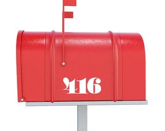 Mailbox Numbers Decal - Custom Door Numbers / House Numbers Sign / Door Decal