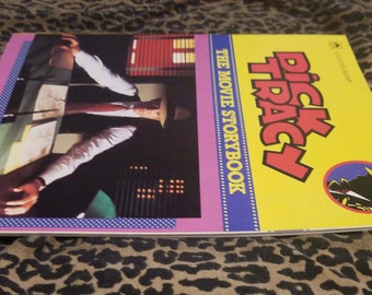 Dick Tracy ** full color movie storybook from 1990 movie ** features Madonna, Warren Beatty