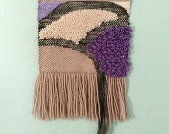 Woven Wall Hanging - Woven Tapestry - Fiber Art - Desert Colors - Xmas Gift - Gift for You