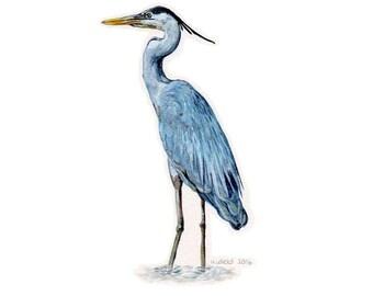 Original Heron Painting - with frame
