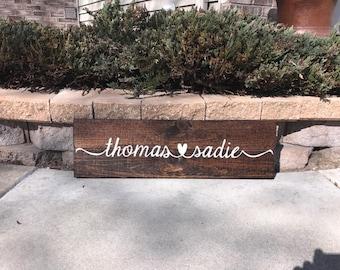 7 X 24 wood sign