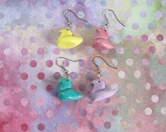 Marshmallow Chick Earrings (Choose a Color!)