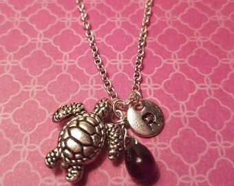 Birthstone February amethyst necklace turtle amethyst February birthstone amethyst turtle birthstone turtle necklace amethyst birthstone
