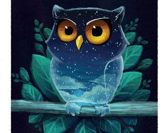 Night Owl Giclée Art Print