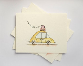 the roadtrip / thank you card / handmade