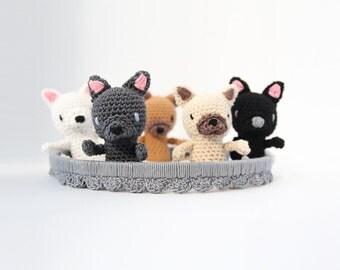 Crochet French Bulldog Baby Mobile – newborn crib mobile, handmade baby gift