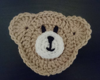 Crochet teddy bear applique / embellishment / decoration