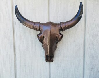 Cow Skull / Long Horn Skull / Ranch Decor / Mini Cow Skull / Faux Taxidermy / Faux Cow Skull / Farm Decor / Faux Animal Skull